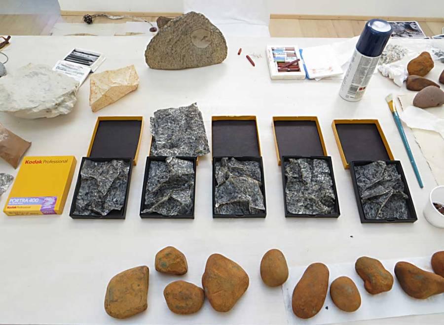 rock skins in studio